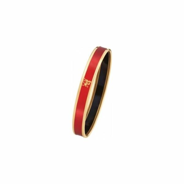 Bracelet FREY WILLE Monochrome Mademoiselle en email plaqué or jaune, taille L