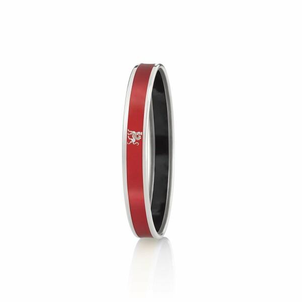 Bracelet FREY WILLE Monochrome Mademoiselle en email plaqué rhodium-palladium, taille L