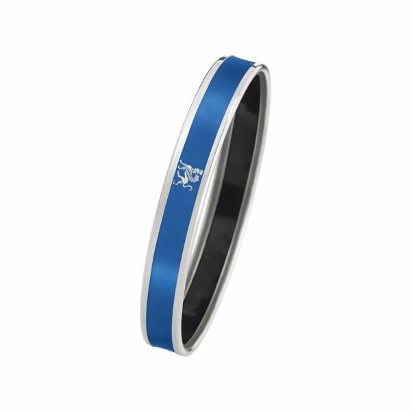 Bracelet FREY WILLE Monochrome Mademoiselle en email plaqué rhodium-palladium, taille M