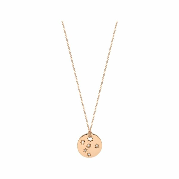 Collier GINETTE NY MILKY WAY en or rose et diamant