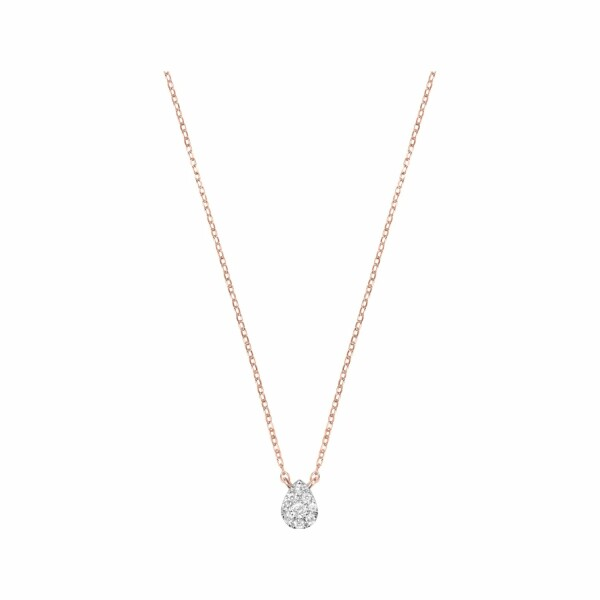 Collier Djula Mini Poire en or rose et diamants