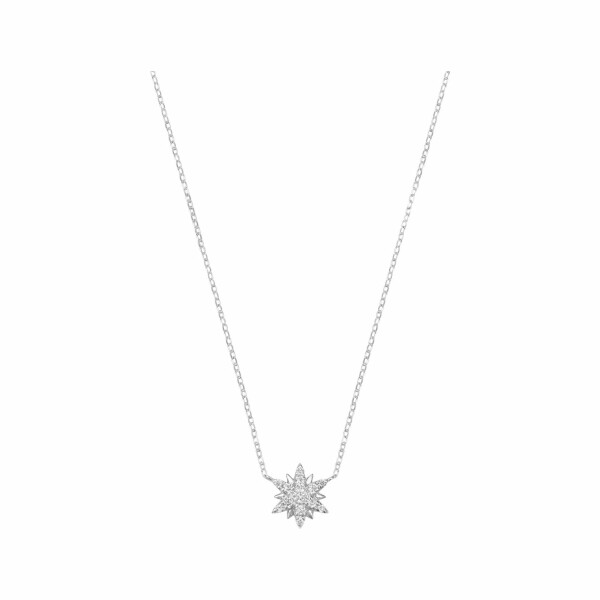 Collier Djula Small Stun en or blanc et diamants