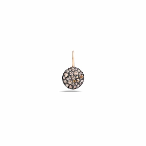 Boucles d'oreilles Pomellato Sabbia en or rose bruni et diamants bruns