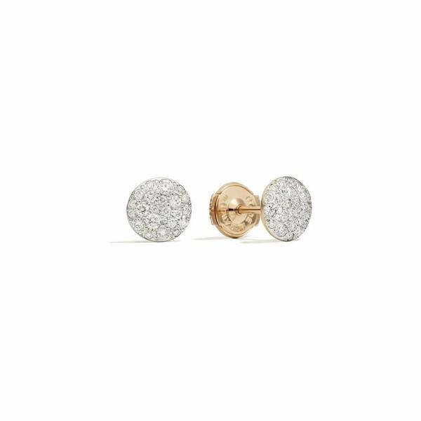 Boucles d'oreilles Pomellato Sabbia en or rose rhodié et diamants