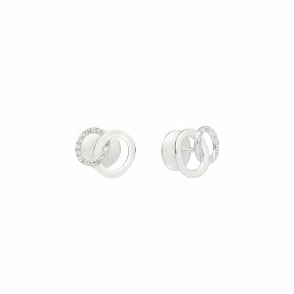 Boucles d'oreilles Pomellato Brera en or blanc et diamants