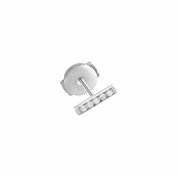 Mono boucle d'oreille Vanrycke Medellin en or blanc et diamants, taille S