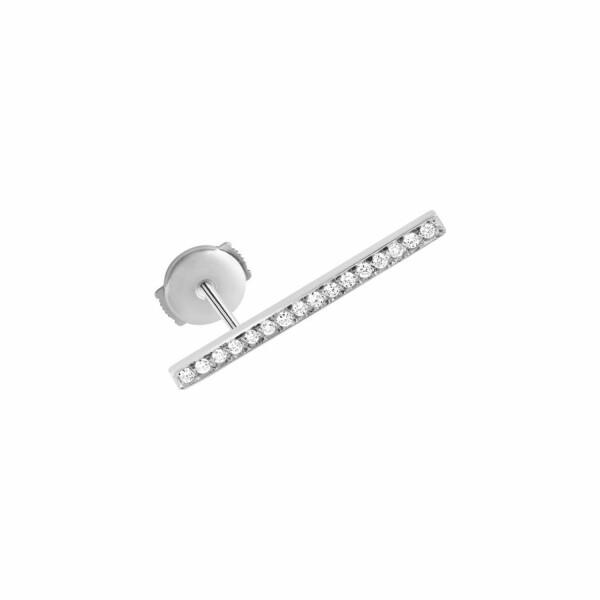 Mono boucle d'oreille Vanrycke Medellin en or blanc et diamants, taille L