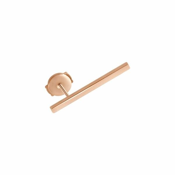 Mono boucle d'oreille Vanrycke Medellin en or rose, taille L
