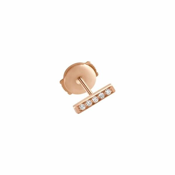 Mono boucle d'oreille Vanrycke Medellin en or rose et diamants, taille S