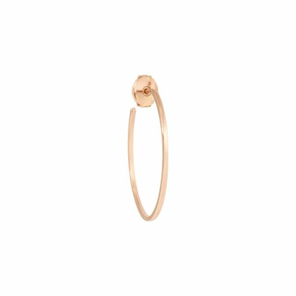 Boucles d'oreilles créoles Vanrycke Officiel en or rose, taille M