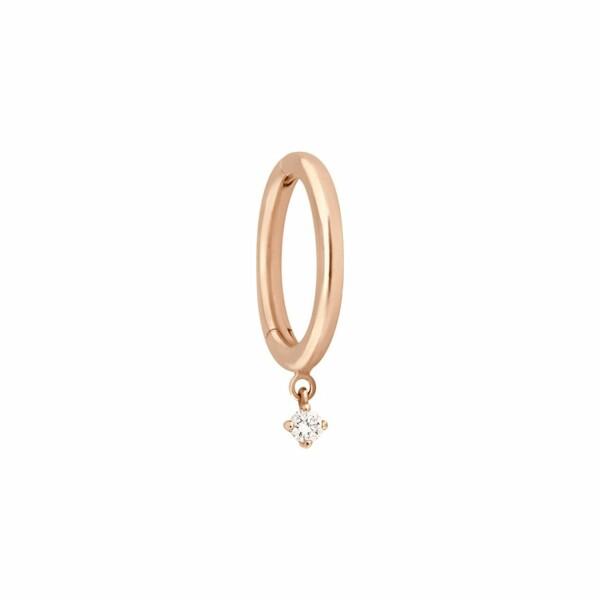 Boucles d'oreilles créoles Vanrycke Stardust en or rose et 1 diamant, taille S