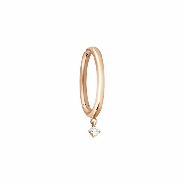 Mono boucle d'oreille créole Vanrycke Stardust en or rose et 1 diamant, taille M