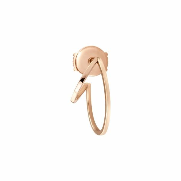 Mini mono boucle d'oreille créole droite Vanrycke Styloïde en or rose