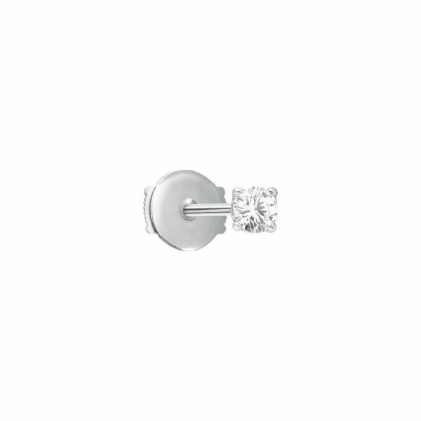 Mono boucle d'oreille Vanrycke Valentine en or blanc et diamant