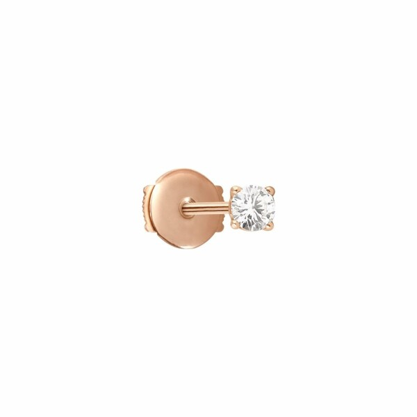 Mono boucle d'oreille Vanrycke Valentine en or rose et diamant