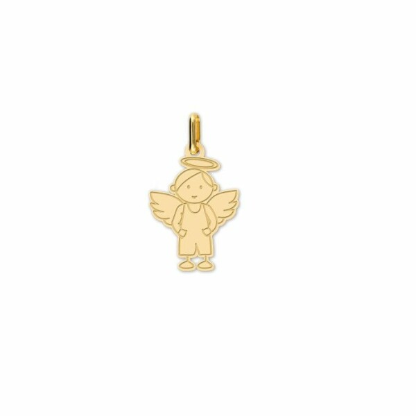 Pendentif Lucas Lucor ange en or jaune