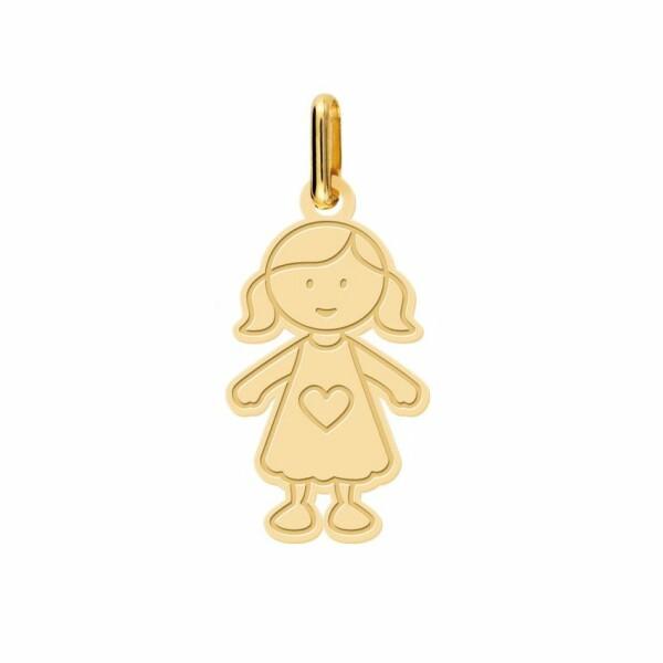 Pendentif Lucas Lucor petite fille en or jaune