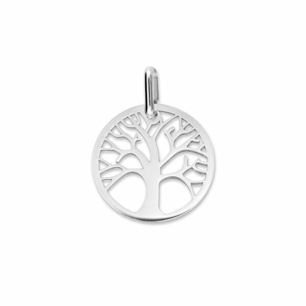 Médaille de baptême arbre de vie en or blanc