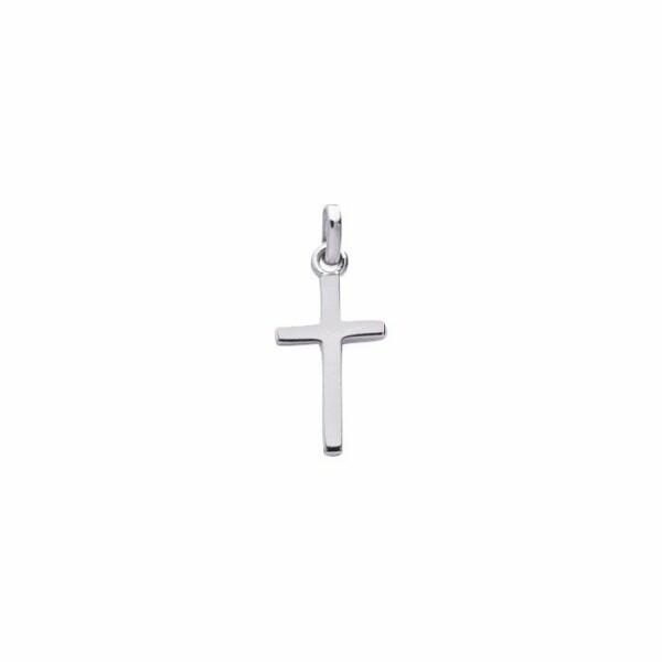 Pendentif croix en or blanc