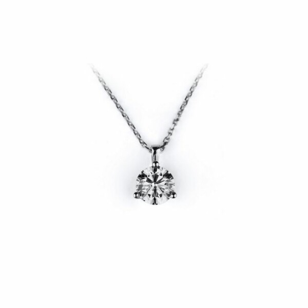 Collier en or blanc et diamant de 0.05ct