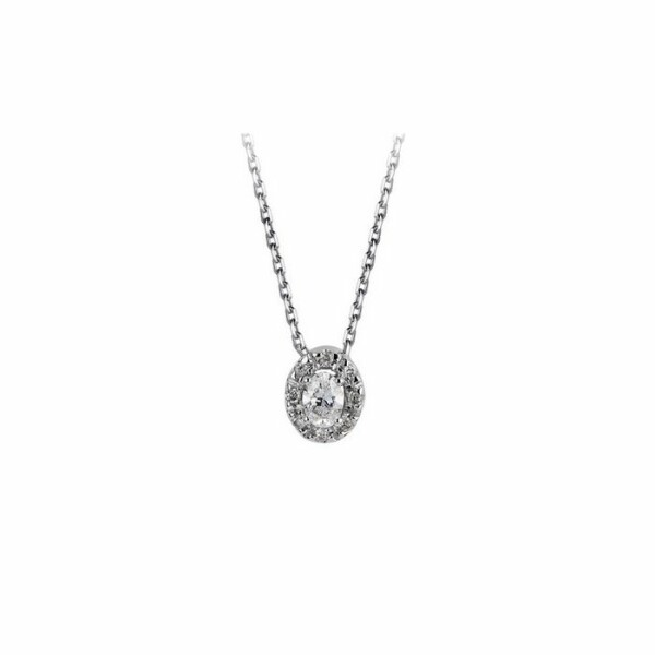 Collier en or blanc et diamant de 0.12ct