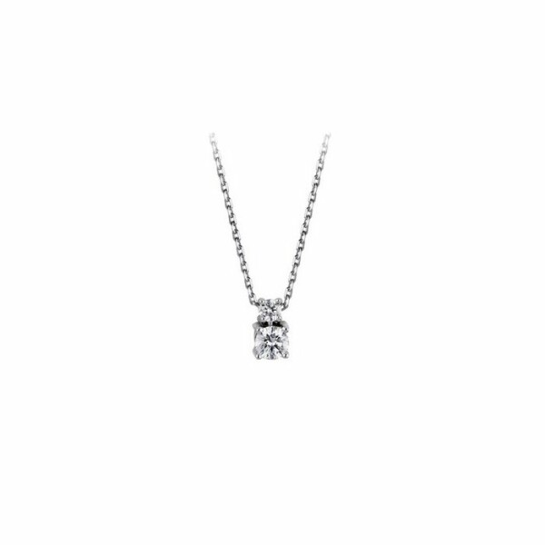 Collier en or blanc et diamants de 0.19ct