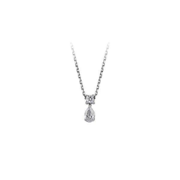 Collier en or blanc et diamants de 0.20ct