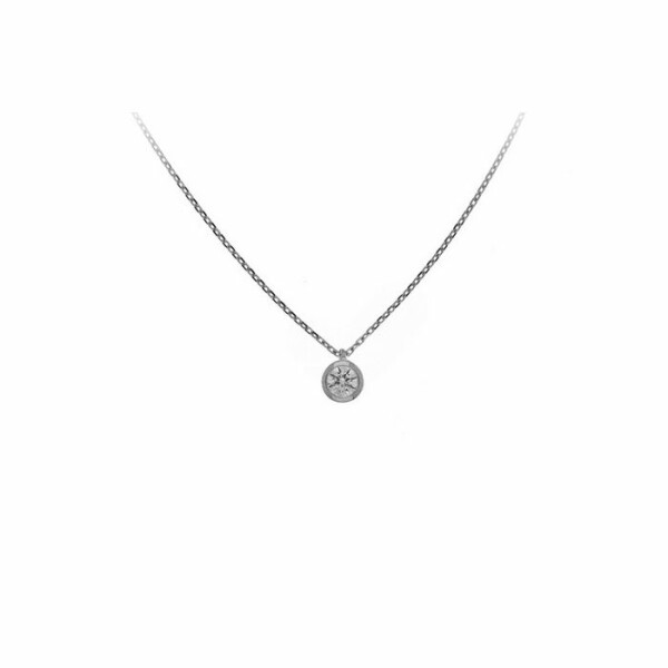 Collier en or blanc et diamant de 0.15ct