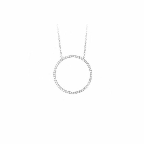 Collier en or blanc et diamants de 0.13ct
