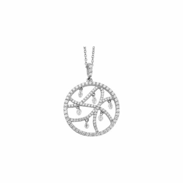 Collier en or blanc et diamants de 1ct