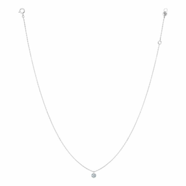 Collier LA BRUNE & LA BLONDE 360° en or blanc et diamant de 0.10ct