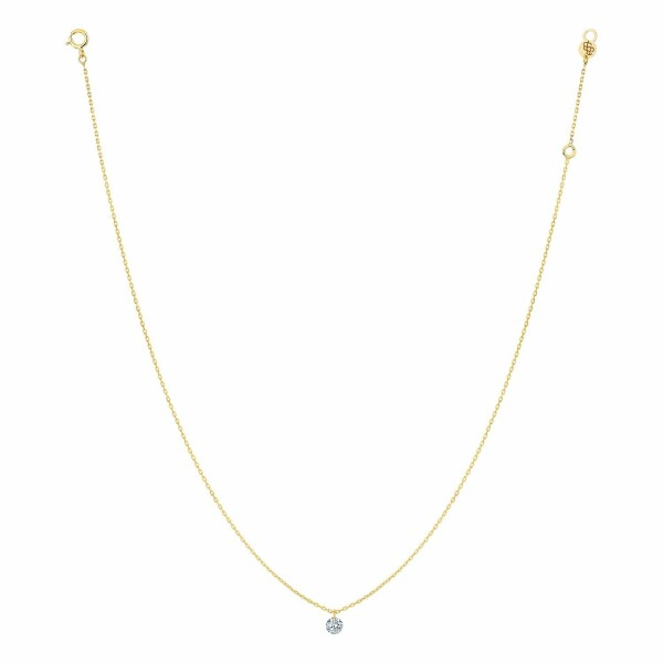 Collier LA BRUNE & LA BLONDE 360° en or jaune et diamant de 0.10ct