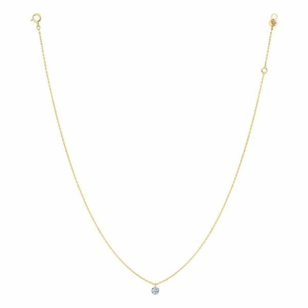 Collier LA BRUNE & LA BLONDE 360° en or jaune et diamant de 0.10ct
