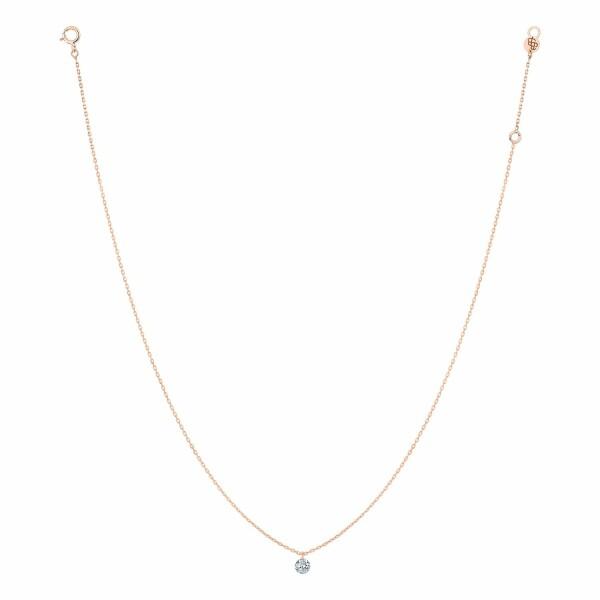 Collier LA BRUNE & LA BLONDE 360° en or rose et diamant de 0.30ct