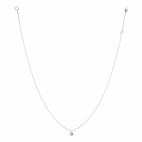 Collier LA BRUNE & LA BLONDE 360° en or blanc et diamant de 0.30ct