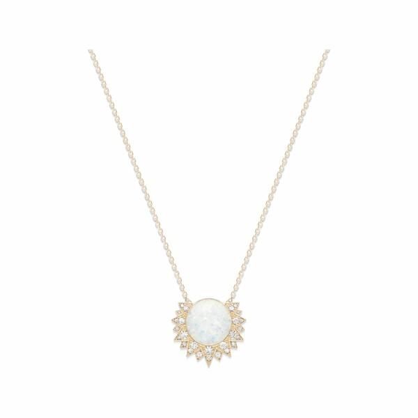 Pendentif Piaget Sunlight en or rose, opale blanche et diamants