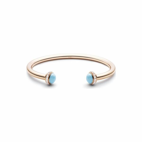 Bracelet Bangle Piaget Possession en or rose, turquoise et diamants
