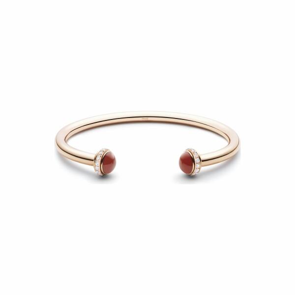 Bracelet Bangle Piaget Possession en or rose, cornaline rouge et diamants