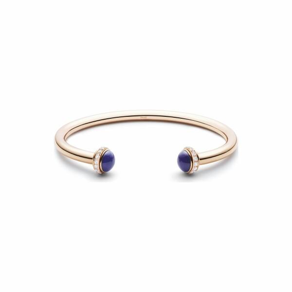 Bracelet Bangle Piaget Possession en or rose, lapis lazuli et pavé de diamants