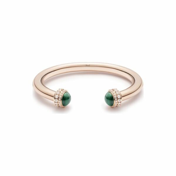 Bracelet Bangle Piaget Possession en or rose, malachite et pavé de diamants