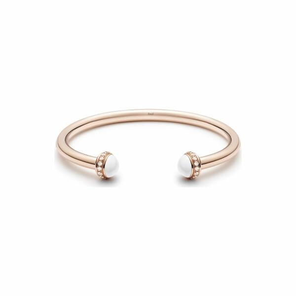 Bracelet Bangle Piaget Possession en or rose, calcédoine et pavé de diamants