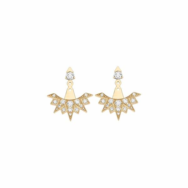 Boucles d'oreilles Piaget Possession en or rose et diamants