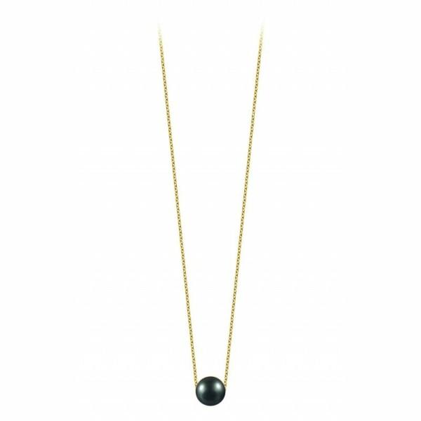 Collier Claverin Simply Pearly en or jaune et perle de Tahiti