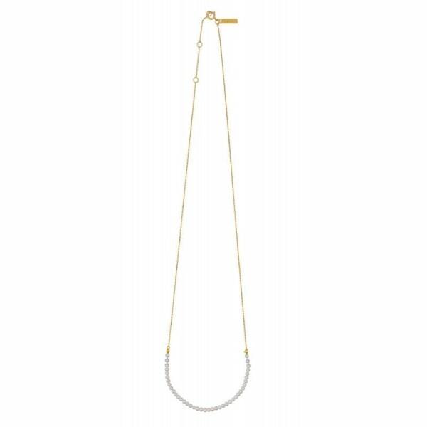 Collier Claverin Mini Rock My Pearls en or jaune et perles blanches