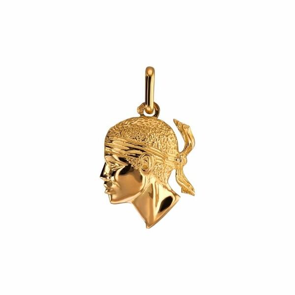 Pendentif Lucas Lucor tête de Maure en or jaune, 20x15mm