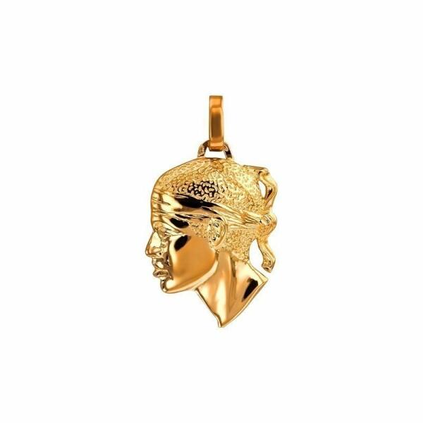 Pendentif tête de Maure en or jaune, 27x24mm
