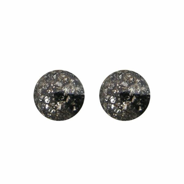 Boucles d'oreilles Indicolite Emily en argent et cristaux Swarovski noirs