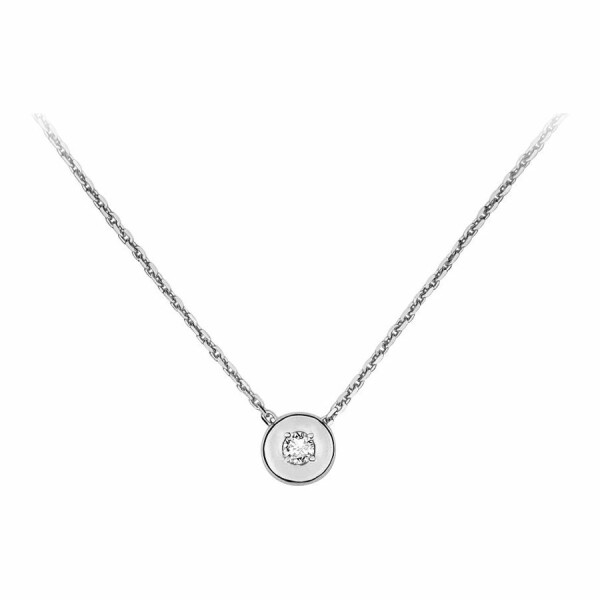 Collier en or blanc et diamant de 0.052ct