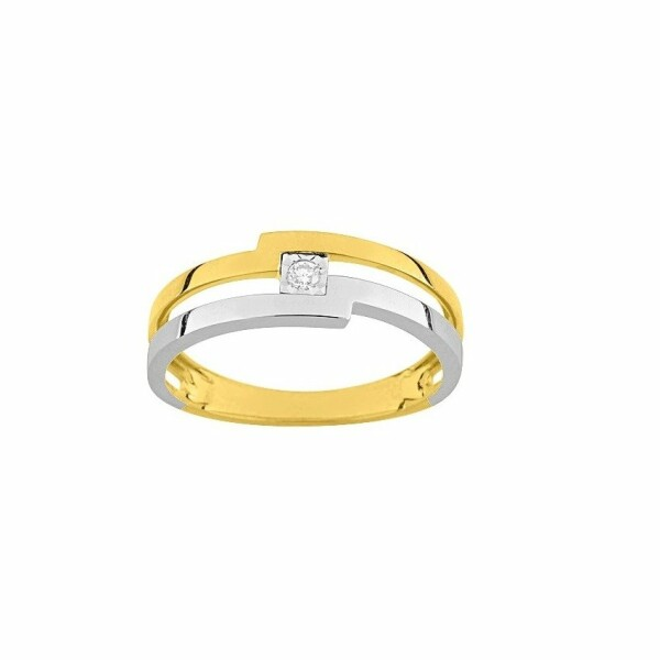 Bague en or jaune et diamant de 0.03ct