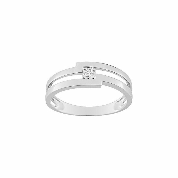 Bague en or blanc et diamant de 0.03ct